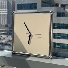 슈테른엠 무소음 인테리어 벽걸이 아날로그 시계모듈크림화이트
