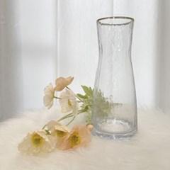 텍스쳐스 유리 꽃병