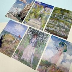 클로드 모네 그림 엽서 (20type)