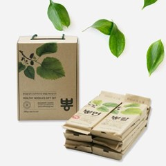 국내산 뽕잎 국수 우리밀 뽕면 선물세트 (300gx6개)