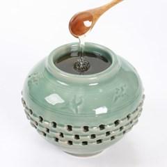선물용 국내산 벌꿀 청자투각 도자기 양봉꿀 1.2kg