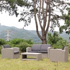 라탄 야외용테이블세트 정원 테라스 4인세트