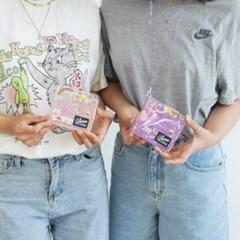 투명 글리터 카드 지갑 3color [PVC 반짝이 포카 목걸이 지갑 DIY]
