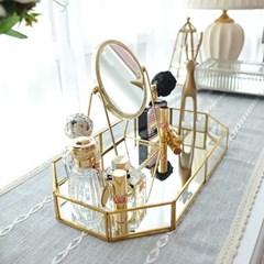 레이스 스탠딩 원형 거울 뷰티 화장소품