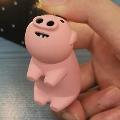 하트불꽃 나오는 돼지코라이터 돼지라이터