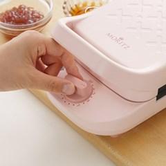 모리츠 2 IN 1 와플메이커 타이머 샌드위치메이커 MO-SM401PK(핑크)