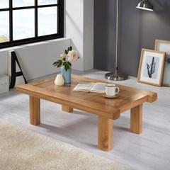 [리앳홈] 솔향 소나무원목 교자상 테이블 1000