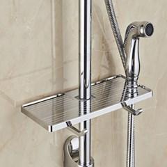 욕실 샤워기둥 틈새선반 샤워기홀더
