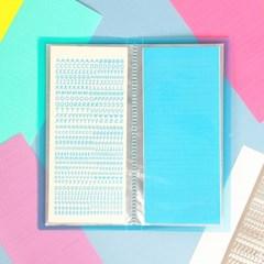 워너디스 끄적끄적 알파벳 숫자 스티커 10가지 컬러 세트