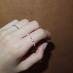 pink_white_r 핑크화이트 비즈반지
