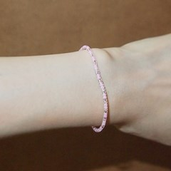 pink_white_br 핑크화이트 비즈팔찌