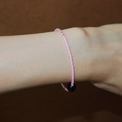 pink_blkox_br 블랙오닉스 핑크 비즈팔찌