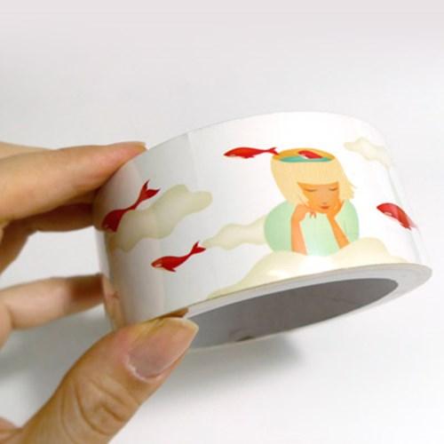 JA 빨간고래 일러스트 테이프