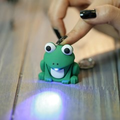 Frog LED Keychain