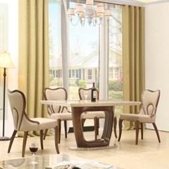 젠틱가구 브렌다 대리석 4인용 식탁세트 테이블 의자