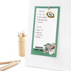 제이로그x롯데월드 메모리지 떡메모지 - 초록이