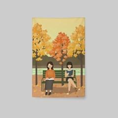 일러스트 패브릭 포스터 / 가리개 커튼_friendship 03