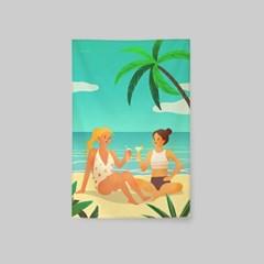 일러스트 패브릭 포스터 / 가리개 커튼_friendship 02