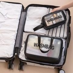 여행용 투명파우치 세면백 속보이는 워시백 3개세트
