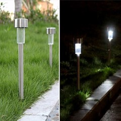 LED 태양광 충전방식 스텐레스 정원등