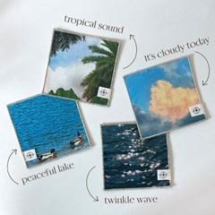SCENERY FABRIC COASTER 순간의 풍경 패브릭 코스터 컵받침