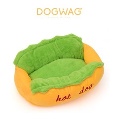 도그웨그 핫도그 강아지 침대 고양이 마약 방석 쿠션