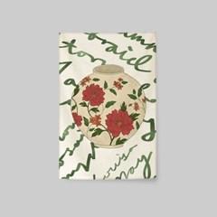 일러스트 패브릭 포스터 / 가리개 커튼_달항아리 03