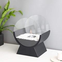 에탄올 난로 JHY design 감성 불멍 캠핑 - 유리프레임 원형