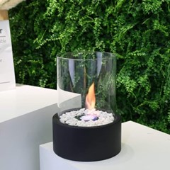 에탄올 난로 JHY design 감성 불멍 캠핑 - 원형 스탠드형 검정 대형