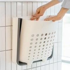 접이식 다용도 빨래통 벽걸이 세탁물 빨래 바구니