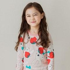 [키키스토리] 딸기토끼 무형광 30수 후라이스 실내복
