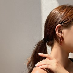 호마이카 뮤트톤 꼬임 귀걸이 2color