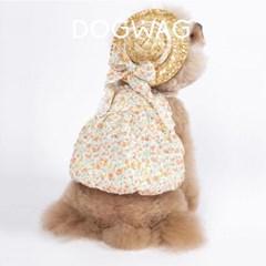 도그웨그 플라워 벌룬 민소매 원피스 강아지 여름 옷 나시