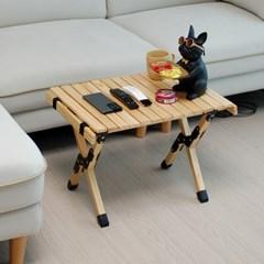 휴대용 폴딩 접이식 우드롤 캠핑 테이블 캠핑용품 540X400 소형