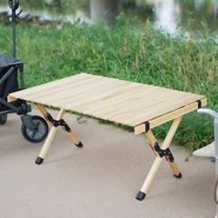 휴대용 폴딩 접이식 우드롤 캠핑 테이블 캠핑용품 900X600 중형