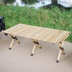 휴대용 폴딩 접이식 우드롤 캠핑 테이블 캠핑용품 1200X600 대형