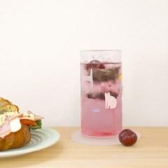 [찰리파파] 피터캣 내열유리컵 홈카페 머그잔 하이볼 370ml