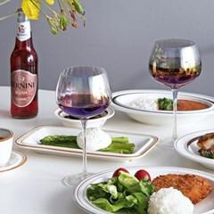 티니블랑 오로라 홈카페 유리컵 - 글램 와인잔 460ml