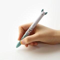 핑크풋 꼬망 2색 볼펜(0.7mm)랜덤배송