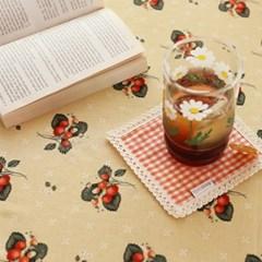 들딸기 식탁보(옐로우)