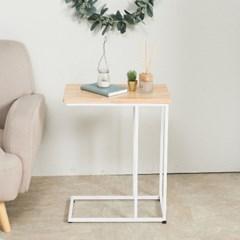 참죽 원목 ㄷ자 폭좁은 차키 쇼파 사이드 테이블