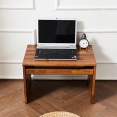 멀바우 원목 좌식 게임용 컴퓨터 작은 1인용 책상 600