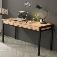 참죽 원목 스틸 좁은 방 책상 미디 테이블 1800