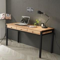 참죽 원목 스틸 좁은 방 책상 미디 테이블 1500
