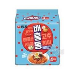 농심 배홍동 비빔면 (4개입)