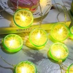 LED 레몬 줄조명 감성 인테리어 캠핑 가랜드등 무드등