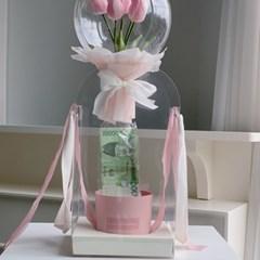 [달스테이]  반전돈풍선 플라워믹스 호접란 꽃풍선 레터링풍선