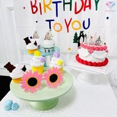 곰돌이 생일패브릭 포스터 HAPPY BIRTHDAY 배경천 현수막