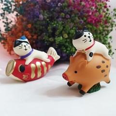 어부바 고양이 데꼴 캐릭터 피규어 포인트 인테리어 소품
