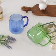 멜팅 내열 컬러글라스 460ml 2color 택1 / 홈카페머그 유리잔 물컵